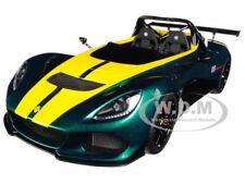 LOTUS 3-ELEVEN GREEN WITH YELLOW STRIPES 1/18 MODEL CAR BY AUTOART 75392