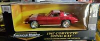 Ertl American Muscle 1967 Chevy Corvette Sting Ray 1:18 Scale Diecast Model Car