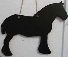 Progetto di cavallo Shire forma Chalk Board Segno regalo fatto a mano unico un regalo di Natale