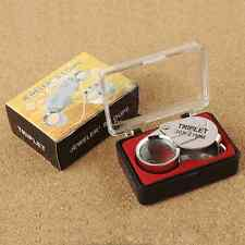30X 21mm Glass Magnifier Loop Jeweler Eye Jewelry Loupe Magnifying Glass Tool