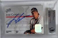 Jose Canseco Signed 1995 Donruss Studio Baseball Card Beckett BAS Slabbed BGS
