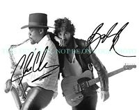 BRUCE SPRINGSTEEN AND CLARENCE CLEMONS SIGNED AUTOGRAPH 8x10 RPT PROMO PHOTO