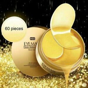 30 Pairs Dark Circle Gel Collagen Under Eye Patches Pad Mask Anti-Wrinkle Gold