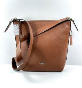 Coach Val Leather Duffle Handbag Saddle Redwood NWT $398