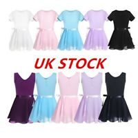 UK Child Ballet Dress Dance Leotard+Skirt Sets Tutu Outfit Girls Costume 2Pcs