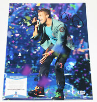 CHRIS MARTIN COLDPLAY SINGER SIGNED AUTHENTIC 11x14 PHOTO 2 BECKETT COA BAS