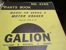 Galion 118 Series C Motor Grader Parts Book Manual