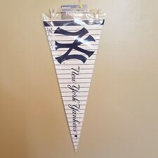 NEW YORK YANKEES PINSTRIPES FELT PENNANT WITH HOLDER #3