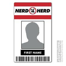 PERSONALISED Printed Novelty ID- Nerd Herd Shop Card Pass (CHUCK TV Series Prop)