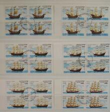 Cambodia 1997 Sailing Ships Boats Nautical Transportation Blocks of 4 CTO