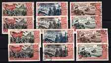 Russia Stamps 1947, Used, 30th Anniversary October Revolution (perf / inperf)