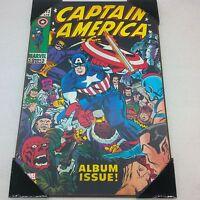 "Marvel Comics Captain America Wooden Wall Art ALBUM ISSUE Decor 13""x19"" NEW"