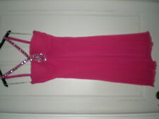 UGO ZALDI PINK SILK JEWELLED PROM PARTY DRESS 12/14