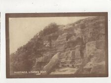Hastings Lovers Seat Vintage Postcard 692a