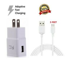 Wall charger + 5FT Micro USB Charging cable for Amazon Kindle Fire HD 7/8 Tablet