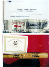D. JAMES GAME USED BAT & ROAD PANTS WITH STEINER C O A & NY YANKEE COA