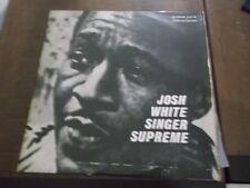 JOSH WHITE singer supreme STIMSON SLP 14 RARE COVER ISRAELI LP ISRAEL ONLY