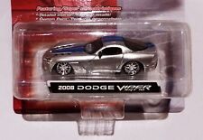 Maisto Custom Shop 2008 DODGE VIPER SRT 10 ARGENTO MET. in 1:64 NUOVO & OVP