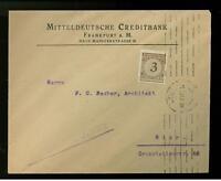 1924 Germany Mitteldeutsche Creditbank Cover to Hier