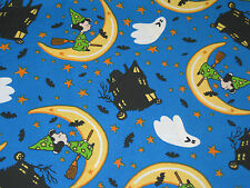 """Peanuts Snoopy Halloween Lucy Blue Moon Ghost Fabric Fat Quarter 18"""" x 21"""""""