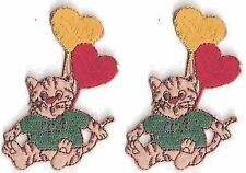 Cartoon Cat Kitten Balloon Embroidery Applique Patch
