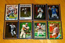 Football card lot of 8 w/Ray Lewis, Peyton Manning, John Elway, Barry Sanders