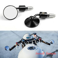 "7/8"" MOTORCYCLE HANDLE BAR END MIRRORS Fits UNIVERSAL CAFE RACER MOTORBIKE NEW"