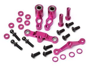 Hot Bodies 68735 - Cyclone TCX Lenkungshebel-Set Kugelgelagert Aluminium purple