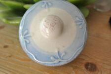 RICE Keramik Toskana Deckel für Tee Kaffee Kanne blau 9cm