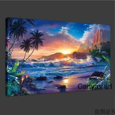 NOT FRAMED oil painting to HD Canvas Print Christian Riese Lassen Seascape Art