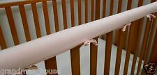 2 x Baby Cot Rail Cover Crib Teething Pad Soft Baby Pink 100% Cotton  SET OF TWO