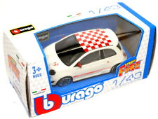 FIAT 500 Abarth Model Car 1/43 Diecast Metal Burago White Genuine 59230950