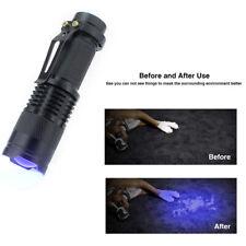Small CREE LED FlashLight UV Ultra Violet Light Outdoor Spot Scorpions Torch
