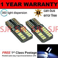 2x W5W T10 501 Canbus Nessun Errore Bianco 24 LED SMD TARGA LAMPADINE np103801