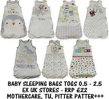 BABY SLEEPING BAG EX UK STORES BOYS GIRLS COTTON 0M-2Y TOG 0.5-2.5 BRAND NEW