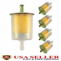 """10X 5//16/"""" Fuel Filters Industrial Universal Motorcycle RV/'s Inline Gas Fuel Line"""