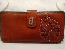 FOSSIL Rust Brown Soft Leather Women's Bi-fold Credit Card Wallet SL3167