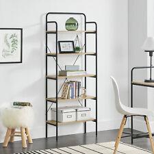 [en.casa] Standregal 5 Ablagen Haushaltsregal Büro-Regel Bücherregal Küchenregal