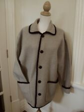 boiled wool jacket  cardigan SUPER warm  grey black Marco polo ??  LARGE