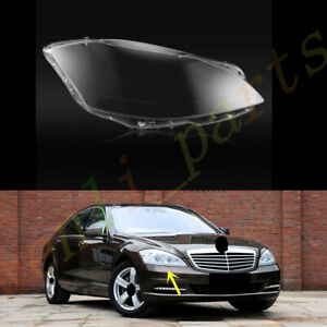 Right Side Headlight Clear Lens Cover +Glue For Mercedes W221 S~Class 2010~2013