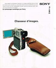 PUBLICITE ADVERTISING 124  1998  SONY  le  caméscope numérique