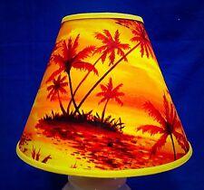 Sunset Palm Trees Handmade Lampshade Island Paradise Lamp Shade
