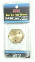 KT Industries 6-5270 Solid Brass T Air Fitting 1//4 NPT Female Inlets 3
