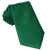 New Polyester Men's Neck Tie only solid formal wedding prom party emerald green