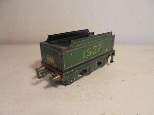 """Bassett Lowke""""O""""- 1927 Tender - green (Duke of York etc) complete - fair/unboxd"""