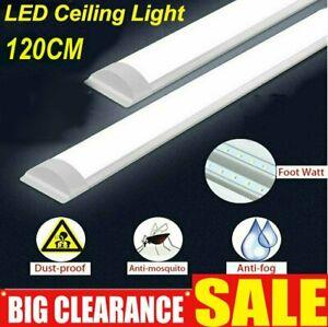 4FT 120cm LED Batten Light for Garage Workshop Ceiling Panel Light Bright Lamp