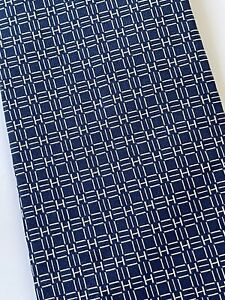 Tie hermes 758967 T Monogram Silk 100% Authentic 100% Made In France Blue