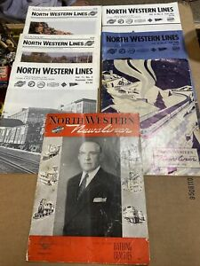 North Western Lines Magazines Lot 1990, 1984, 1988, 1955 & 1945 first issue