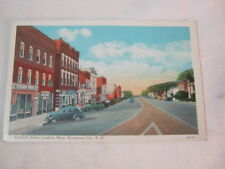 Morehead City N.C. Arendell Street Downtown view Coke signs Old cars Postcard  T