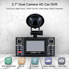 "2016 F30 2.7"" HD 1080P Car Dual Lens Dash DVR Video Night Vision Camera Rear Cam"